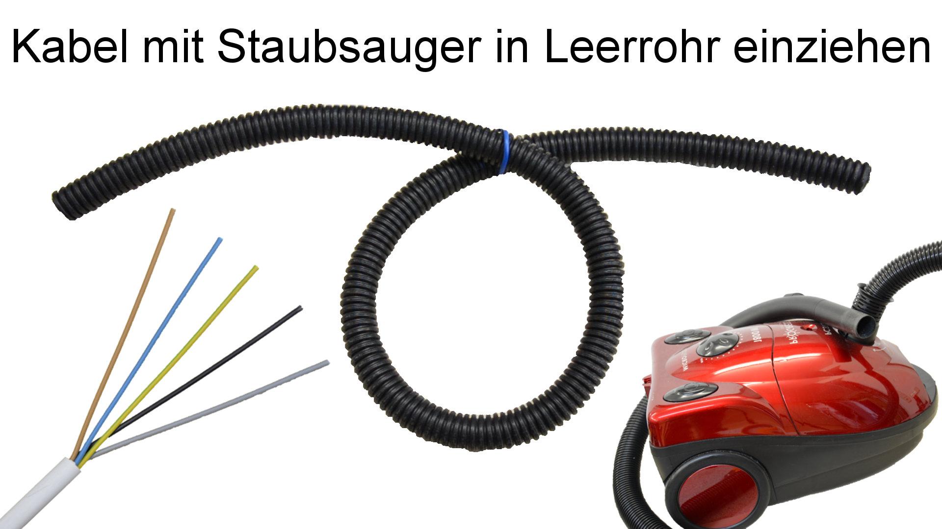 Kabel in Leerrohr einziehen - Thumbnail