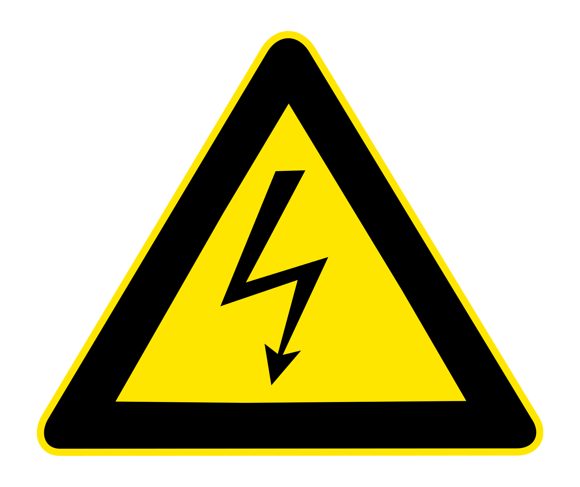 spannung schild der elektriker