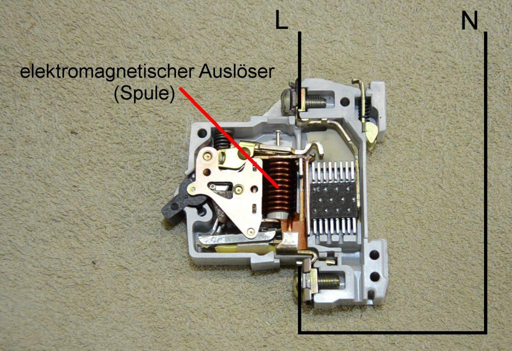 elektromagnetischer Ausloeser mit Kurzschluss